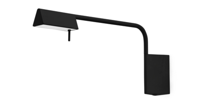 Applique murale academy noir led h41cm h18 8cm faro normal