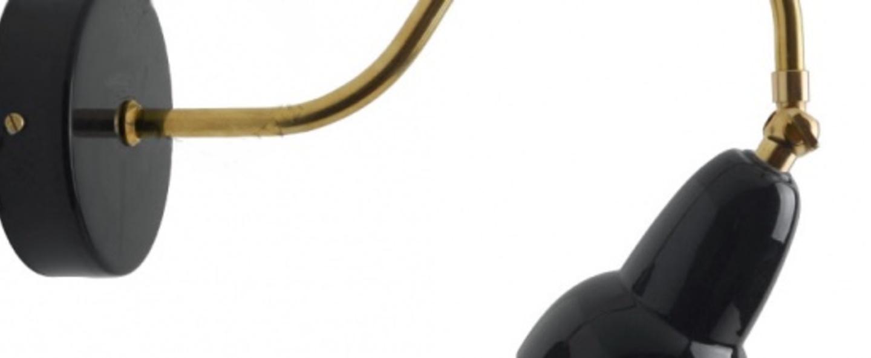 Applique murale adore l or noir et laiton p28cm h21cm zangra normal