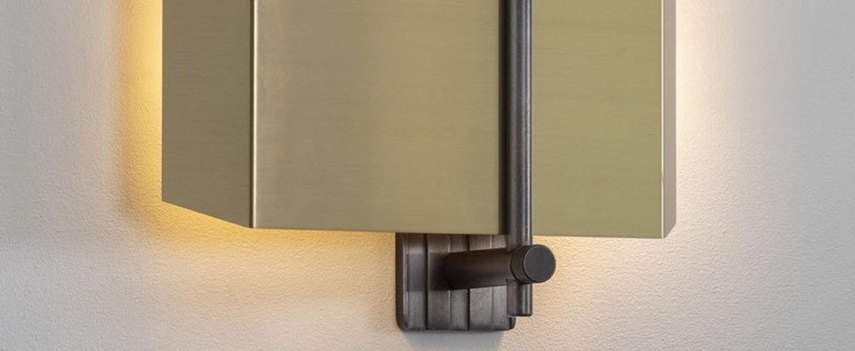 Applique murale aegis droite bronze l28cm h27cm bert frank normal
