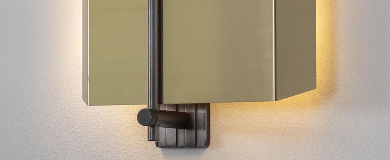 Applique murale aegis gauche bronze l28cm h27cm bert frank normal