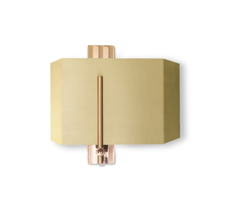 Aegis  applique murale wall light  bert frank aegis wall light copper brass  design signed 36088 product