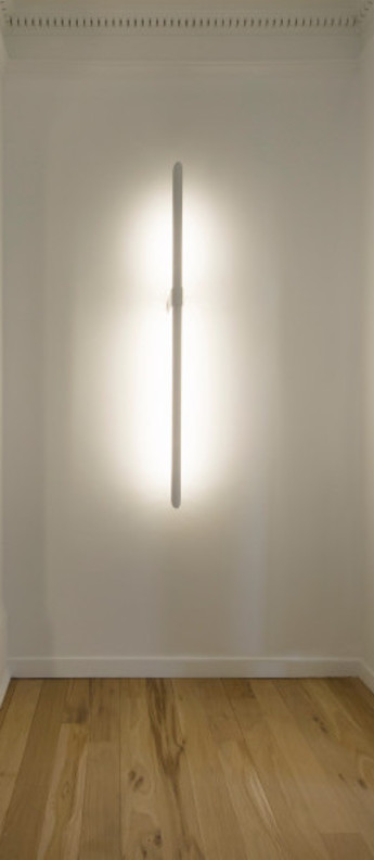 Applique murale aguja blanc led 3000 k 3300 lm o16cm h115cm dark normal