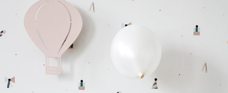 Applique murale air balloon lamp rose led o26 5cm h34 5cm ferm living normal
