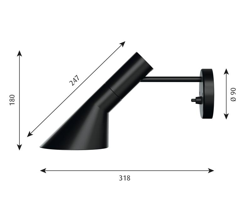 Aj applique  applique murale wall light  louis poulsen 5743161780  design signed 58513 product