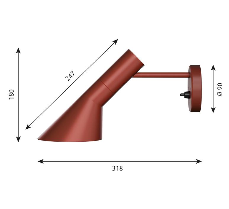 Aj applique  applique murale wall light  louis poulsen 5743160859  design signed 58515 product