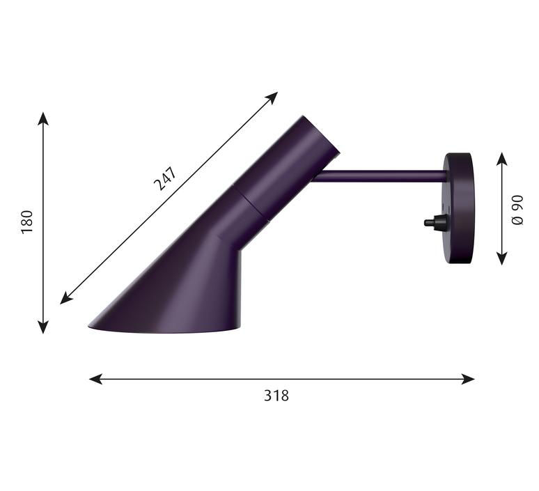 Aj applique  applique murale wall light  louis poulsen 5743160875  design signed 58496 product