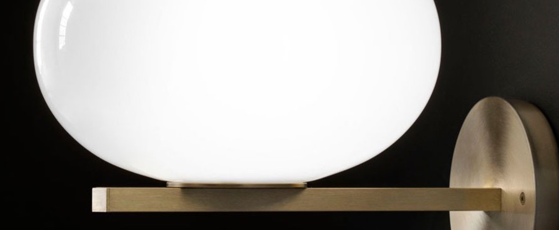 Applique murale alba 176 laiton opale o26cm h30cm oluce normal