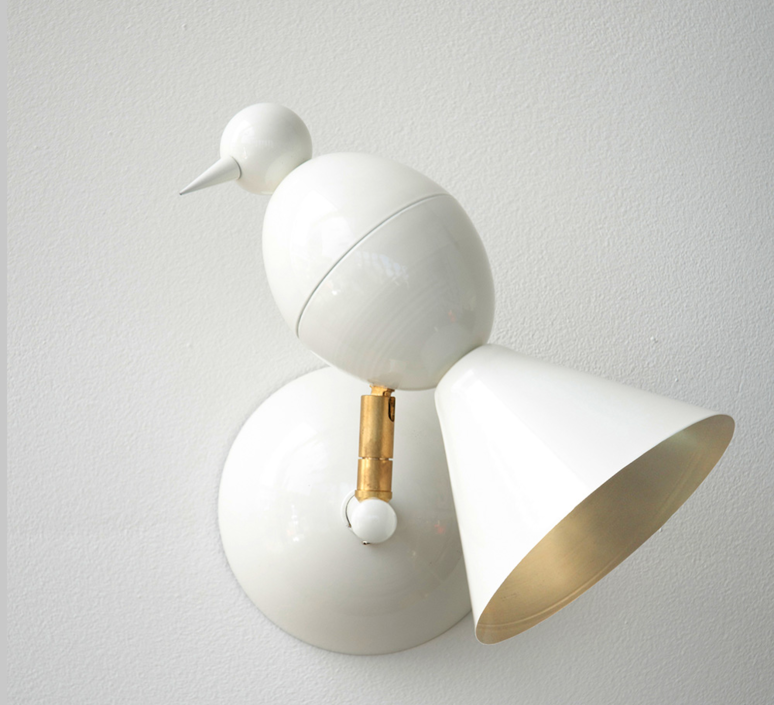 Alouette wall gwendolyn et guillane kerschbaumer applique murale wall light  atelier areti  alouette wall brass white  design signed 35905 product
