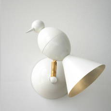 Alouette wall gwendolyn et guillane kerschbaumer applique murale wall light  atelier areti  alouette wall brass white  design signed 35905 thumb