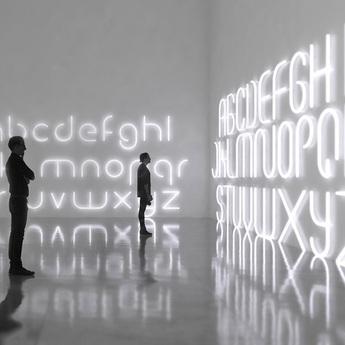 Applique murale alphabet of light letter a blanc l65cm h95cm artemide normal