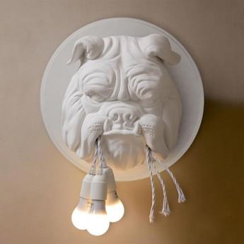 Applique murale amsterdam bulldog blanc o45cm h45cm karman normal