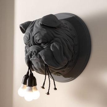 Applique murale amsterdam bulldog noir o45cm h45cm karman normal