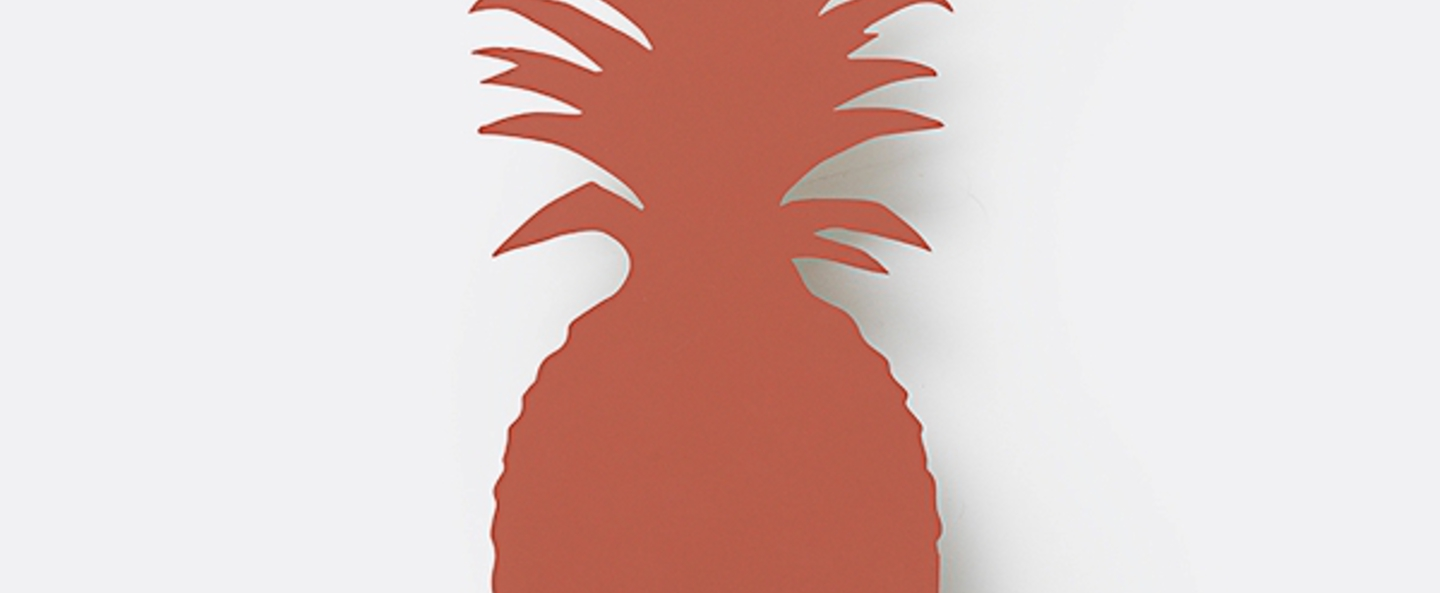 Applique murale ananas pineapple orange led l17 5cm h38cm ferm living normal