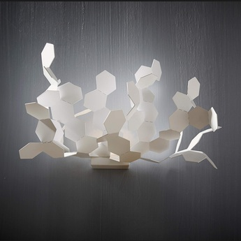 Applique murale andromeda blanc h30cm led zava normal