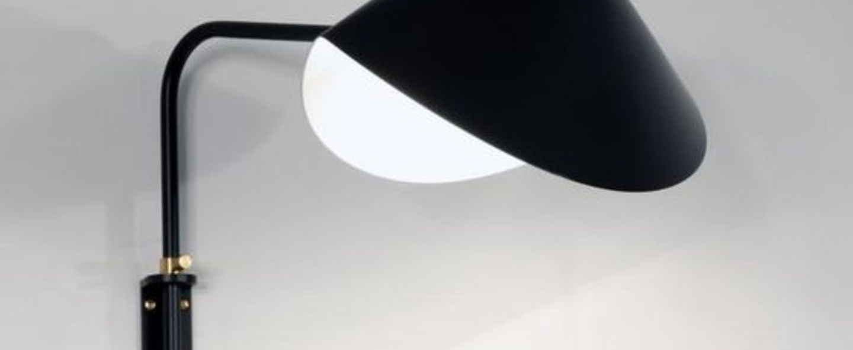 Applique murale antony switch shade noir h41 5cm serge mouille normal