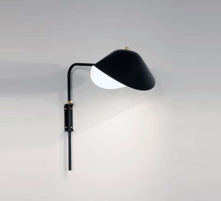 Antony switch shade serge mouille editionssergemouille apant noir etrier luminaire lighting design signed 20829 product