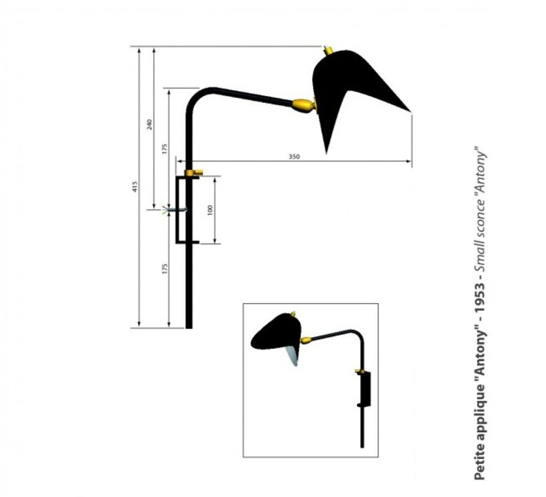 Antony switch shade serge mouille editionssergemouille apant noir etrier luminaire lighting design signed 20831 product