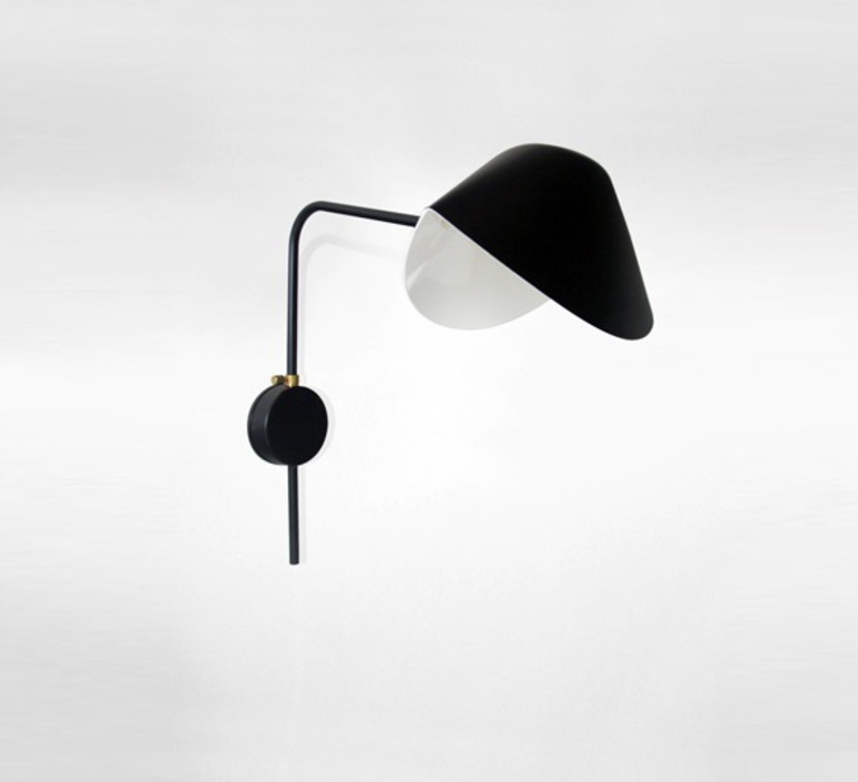 Antony switch wall serge mouille editionssergemouille apant noir platine luminaire lighting design signed 20832 product