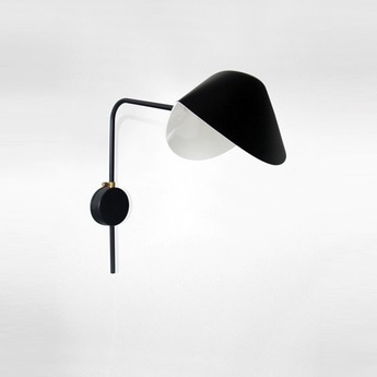lampadaire droit noir h160cm serge mouille luminaires nedgis. Black Bedroom Furniture Sets. Home Design Ideas