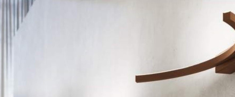 Applique murale ap uli 090 marron led l74 5cm h6cm axo light normal