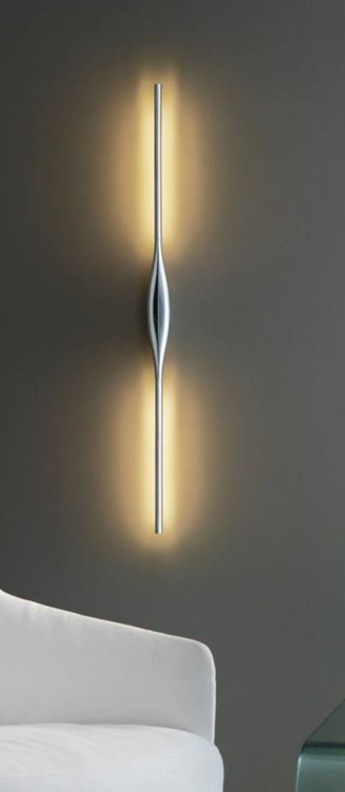 Applique murale apex aluminium led 2700 900 900 l102cm h9 4cm fontana arte normal