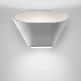 Applique murale aplomb blanc led 2700k 1120lm l30cm h24cm foscarini normal