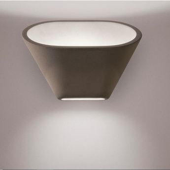 Applique murale aplomb brun led 2700k 1120lm l30cm h24cm foscarini normal