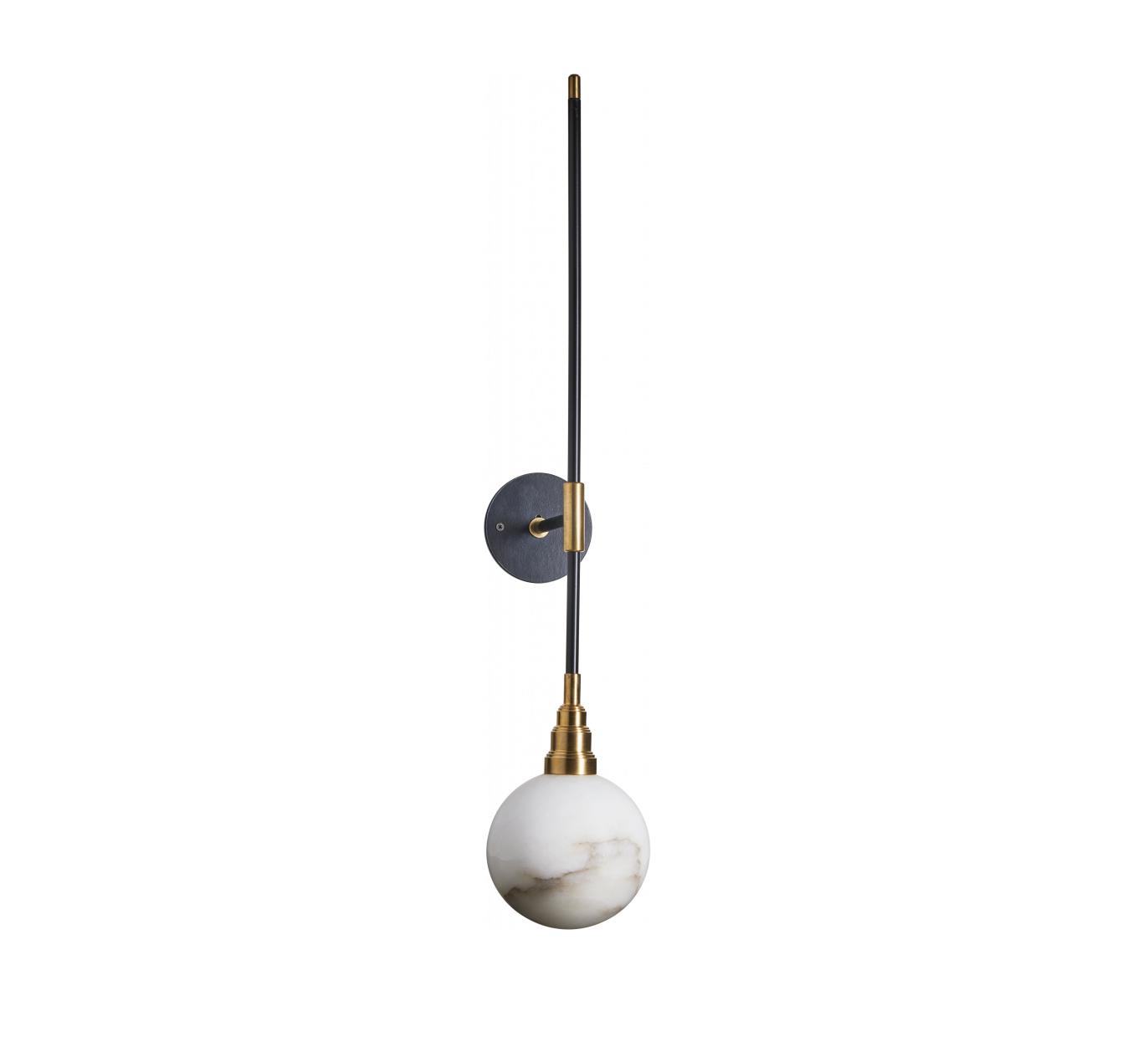 Boule» Daniel Applique AlbâtreNoir Et OrLedL15cmH80cm Gallo Murale«une droeCxWEQB