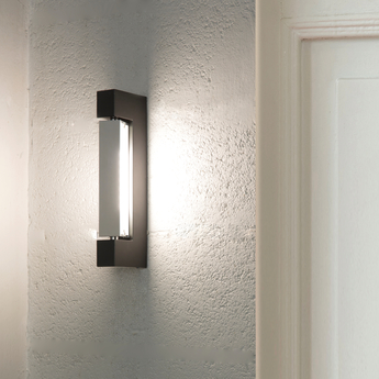 Applique murale ara anthracite led 3000k 1000lm ip40 l29cm h9cm nemo lighting normal