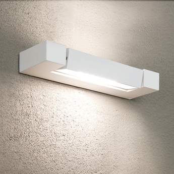 Applique murale ara total blanc led 3000k 1000lm ip40 l29cm h9cm nemo lighting normal