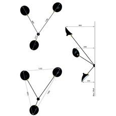 Araignee 3 bras fixes  serge mouille editionssergemouille ar3b noir luminaire lighting design signed 107035 thumb