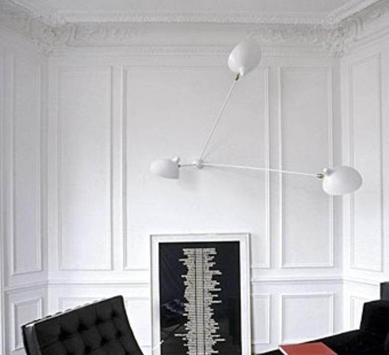 Araignee 3 bras fixes  serge mouille editionssergemouille ar3b noir luminaire lighting design signed 107037 product
