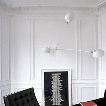 Applique murale araignee 3 bras fixes blanc h135cm serge mouille normal