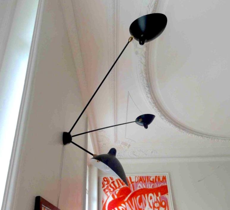 Araignee 3 bras fixes  serge mouille editionssergemouille ar3b noir luminaire lighting design signed 20781 product