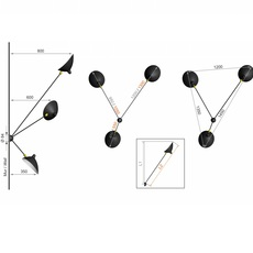 Araignee 3 bras fixes  serge mouille editionssergemouille ar3b noir luminaire lighting design signed 20783 thumb