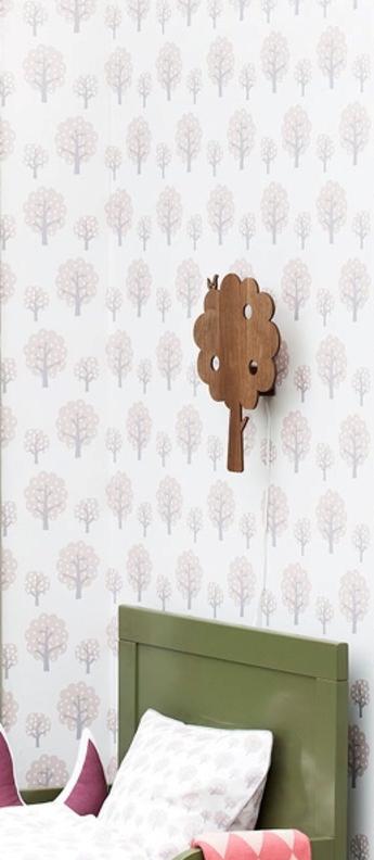 Applique murale arbre tree lamp marron led l27cm h35cm ferm living normal