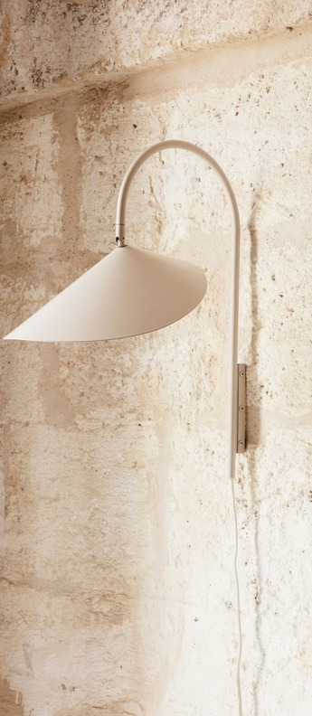 Applique murale arum wall lamp cashmere l25 6cm h46 1cm ferm living normal