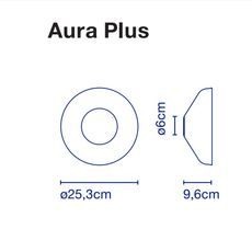 Aura joan gaspar applique murale wall light  marset a676 018  design signed 54785 thumb