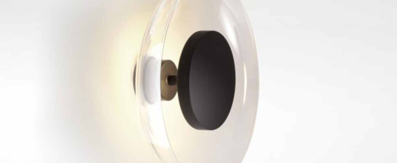 Applique murale aura transparent led o25 3cm h25 3cm marset normal