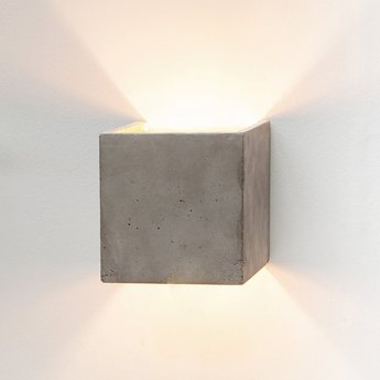 Applique murale b3 cubic gris or l14cm h14cm gantlights normal