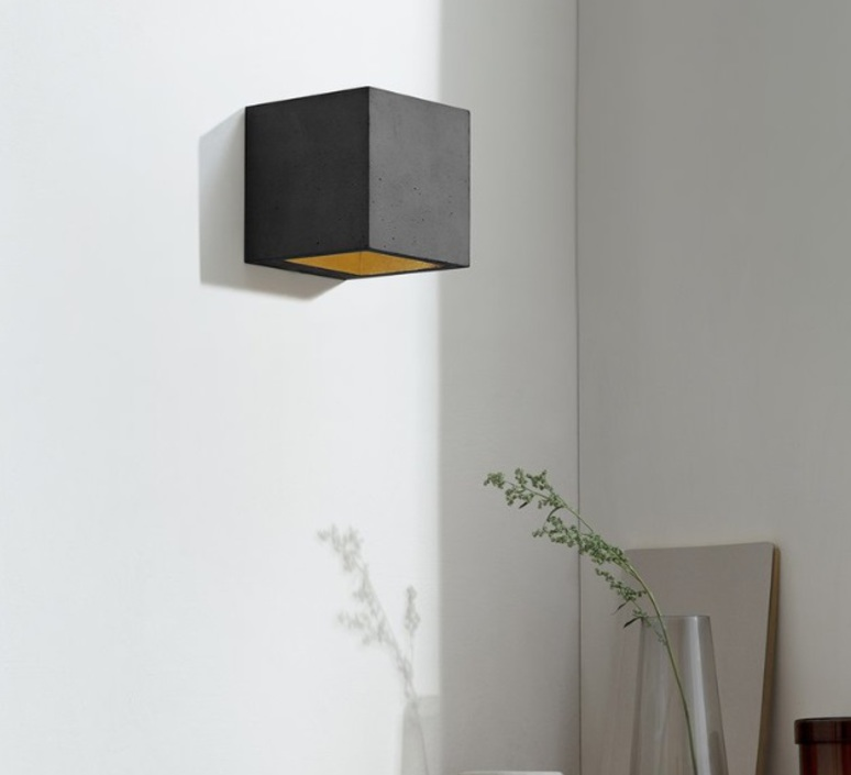 B3 dark wall light cubic stephan gants gantlights b3 wa gs luminaire lighting design signed 61678 product