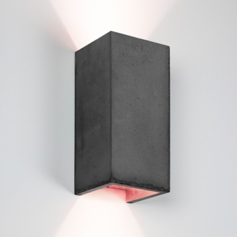 Applique murale b8 gris fonce cuivre l10cm h23cm gantlights normal