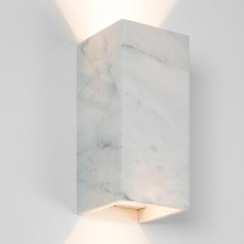 Applique murale b8m carrara marbre blanc l10cm h23cm gantlights normal