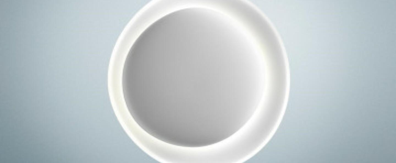 Applique murale bahia mini blanc led 2850k 2425lm l53cm h55cm foscarini normal
