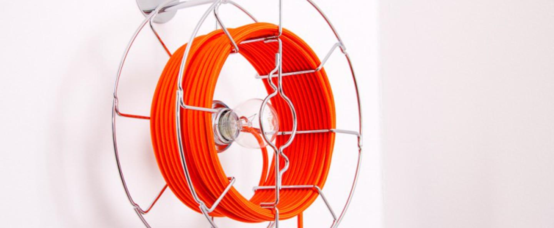 Applique murale baladeuse arianna orange h30cm zava normal