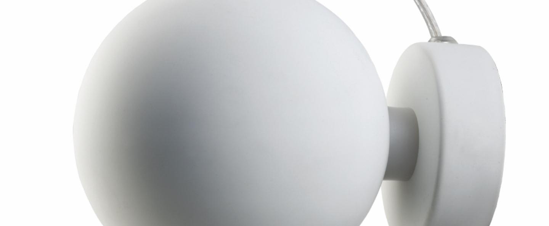 Applique murale ball blanc mat o12cm h10cm frandsen normal