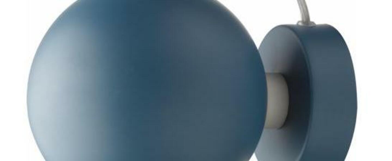 Applique murale ball bleu petrole mat o12cm h10cm frandsen normal