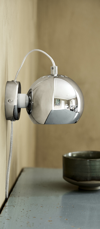 Applique murale ball chrome o12cm h10cm frandsen normal