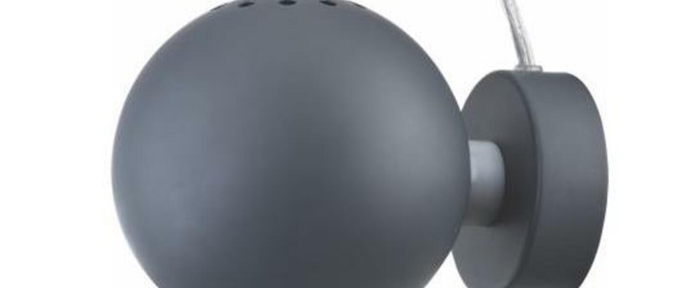 Applique murale ball gris fonce mat o12cm h10cm frandsen normal