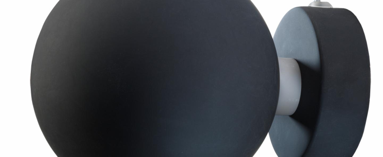 Applique murale ball noir mat o12cm h10cm frandsen normal